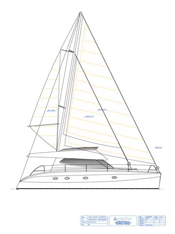 HK40' - Power Sailing Catamaran - Click to zoom