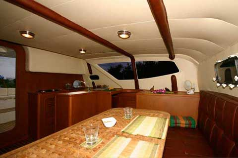 Sailing Catamaran RB 34' - Upholstery Interior Version - Click me to open the gallery