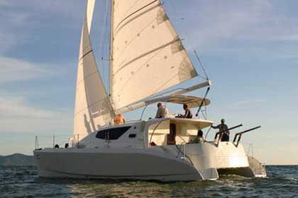 Our new sailing and power catamaran RB 34' - Upholstery Interior Version - Click to enter.