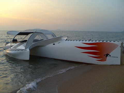 Wavepiercer Speed Boat