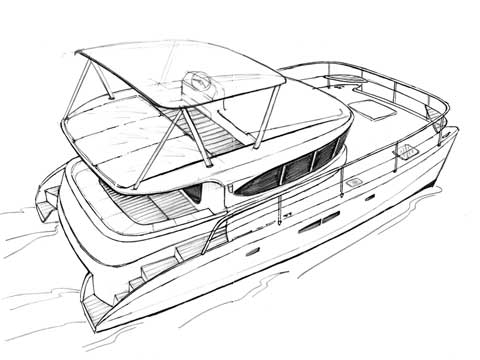 Power catamaran RB 38-40' - Click me to open the gallery