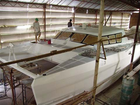 more aluminum power catamaran boat plans | rush wey