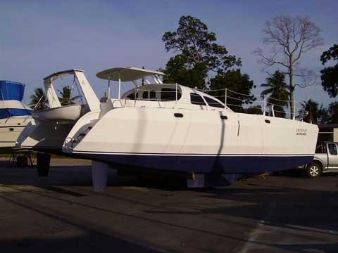 Sailing catamaran RB 36 plywood epoxy vessel