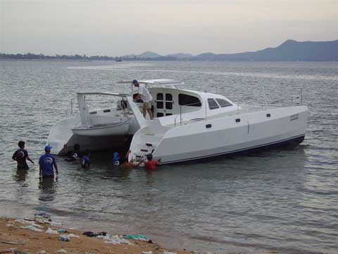 Catamaran launch