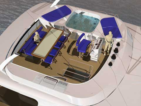 Sailng catamaran RB 60' - Click me to open the gallery