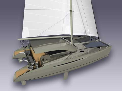 SV 45' - High Performance Sailing Cat  - Click me to open the gallery