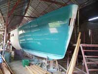Ketch 77 during the painting
