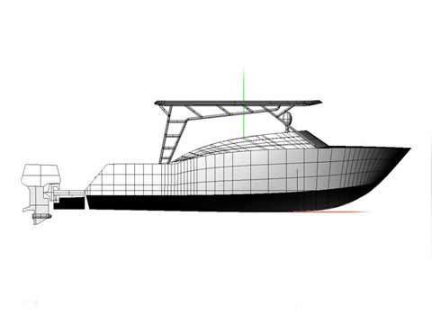 Another view of the boat project