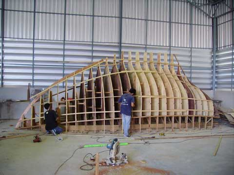 Carpentry works for the Penny 26'
