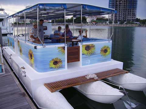 Fiberglass Pontoon - Click me to open the gallery