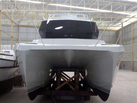 Warrior 30' power catamaran - Construction phases.