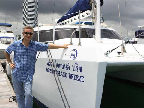 Raoul Bianchetti with the Catamaran RB 42'