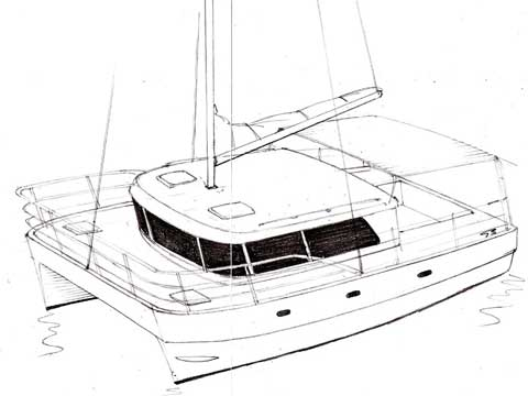 Sailing Fiberglass Catamaran Design