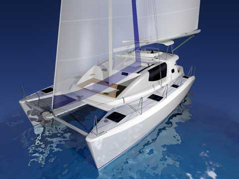 VIDEO - Sailing and Power Catamaran RB 34'