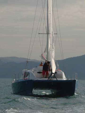 VIDEO - Sailing and Power Catamaran RB 34' - Sea Trial