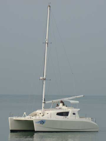 Sailing Catamaran RB 34 - Click to zoom.