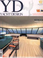 "The cover of ""Yacht Design"" the prestigious international magazine"